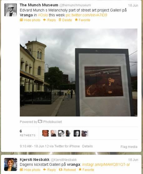 """""""Melankoli"""" av Edvard Munch på Vestbaneplassen"""